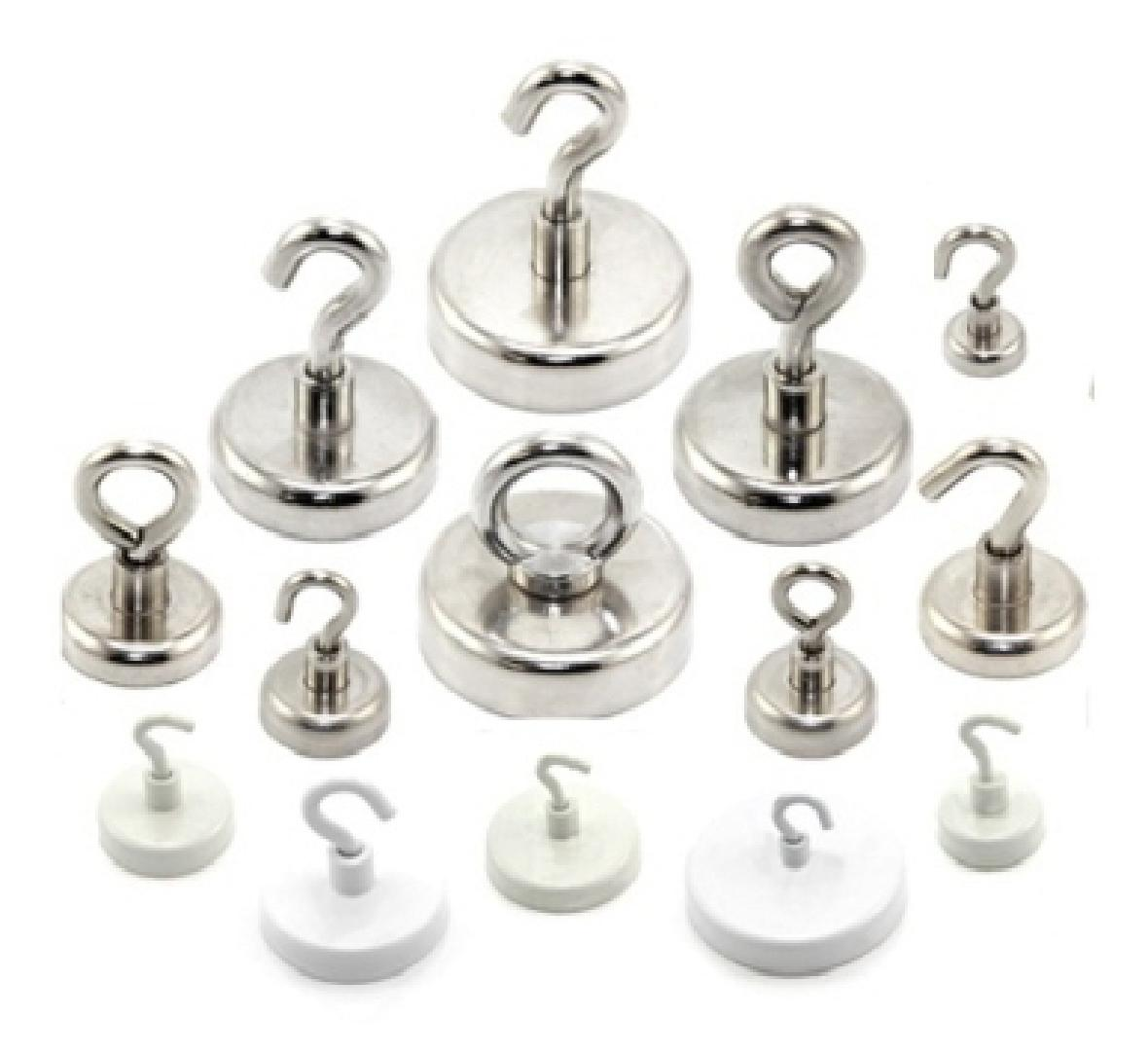 Neodymium Pot Magnets for Hooks or Eyelets