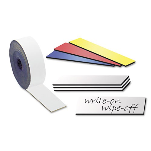 Write-on / wipe-off magnetic labels