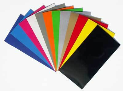 Magnetic Sheets with Colored Vinyl