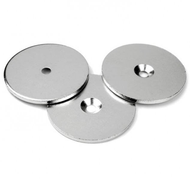 Metal disk white double sided adhesive tape 40mm x 2mm for Plaque decorative adhesive alu inox metal